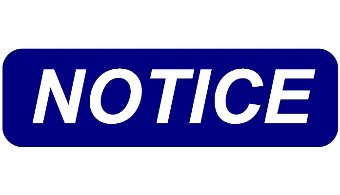 Notice of Intent to Transfer Public Funds